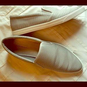 BCBG slid in grey shoe